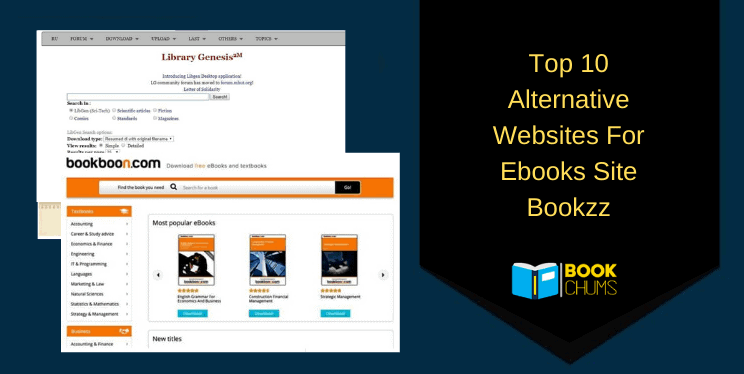 Top 10 Alternative Websites For Ebooks Site Bookzz : Bookzz Replacement